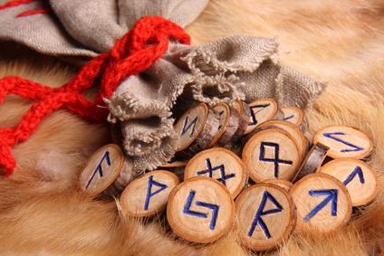Runes close-up