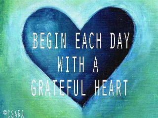 Developing an attitude of gratitude